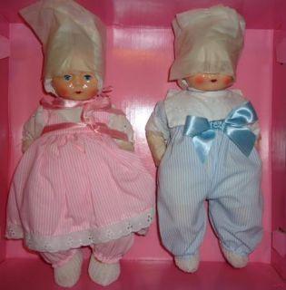 NIB HORSMAN Tynie Tinie Twins Boy Girl Baby Dolls