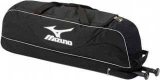 Mizuno Prospect Youth Wheeled Baseball Softball Bat Bag Black