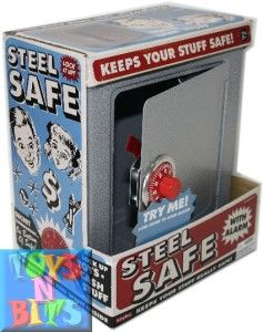 Schylling Steel Safe with Alarm Combination Lock Toy Kids Childrens
