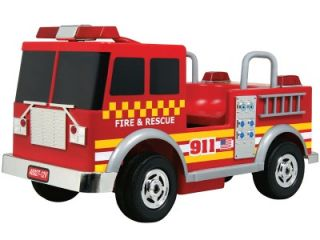 NEW RED 12v BATTERY OPERATED FIRE TRUCK RIDE ON CAR POWERED TOY
