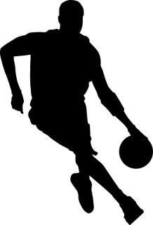 Basketball Silhouette 1 Vinyl Sticker Decal Window Car