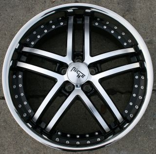 ESSENCE M877 20 BLACK RIMS WHEELS G35 Coupe 03 up / 20 x 8.5 5H +35