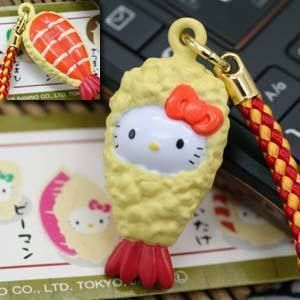 Kitty Pendant Charm with Strap Bell for Mobile Phone HK521 2cm