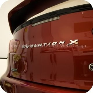 BIG CHROME Evolution X Rear Trunk Lancer EVO X 3D Car Badge Decal