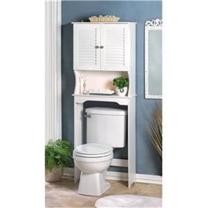 Bathroom Storage Shelf Cabinet Over Toilet Space Saver White Nantucket