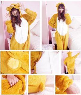 Hot Japan Anime Rilakkuma Bear Costume Cosplay KIGURUMI Pajamas s M L