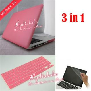 For New MD102LL MacBook Pro 13 Rubberized Hard Case Cover Screen Film