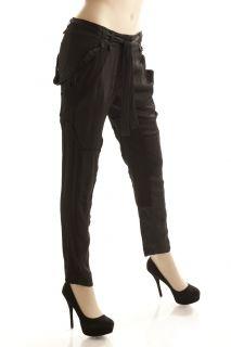 BCBG Max Azria Black Woven Relaxed Jodhpur Pant Size S