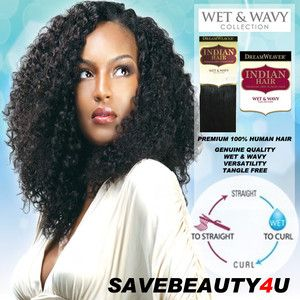 12 Model Dream Weaver Indian Hair Premium 100 Human Hair Wet Wavy