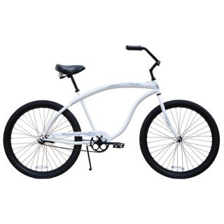 Beach Cruiser Bicycle, Firmstrong BRUISER PRESTIGE 26 Mens WHITE 1