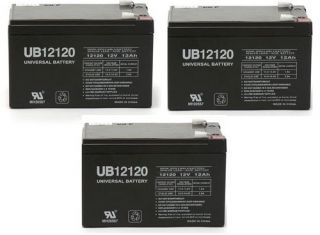 of 12 Volt 12ah Ebike Electric Scooter Battery E Bike Boreem   3 Pack