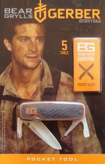 Gerber Bear Grylls Survival Series Pocket Tool Folding Knife New