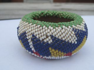 NATIVE AMERICAN QUILL BEADED BASKET ARTIFACT   UNIQUE!