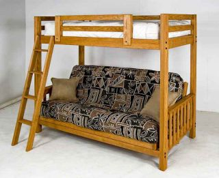 Freedom Futon Bunk Bed Frame Gorgeous Golden Oak Stain