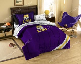 lsu tigers twin comforter sheets sham bed in a bag