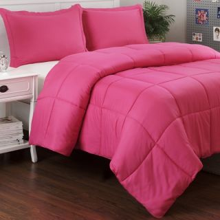 Set Solid Pink Girls Bedding Bed in A Bag Queen Full King