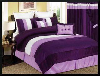 8PC VENETO BED IN A BAG COMFORTER BEDDING BEDROOM SET QUEEN SIZE