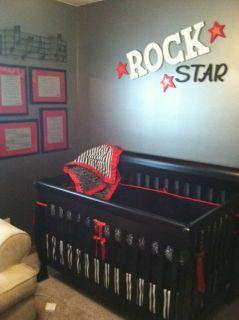 Rockabilly Punk Tattoo Skull Crib Bedding Set Made to Order