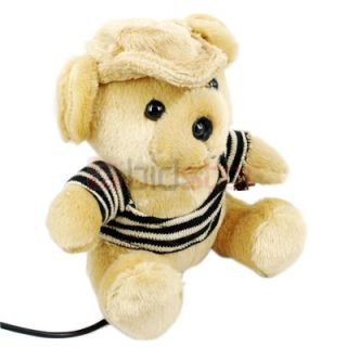 click an image to enlarge cute teddy bear has webcam built in to his