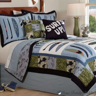 Kid Teenage Quilt Beach Bedding Set Twin Full Queen Size
