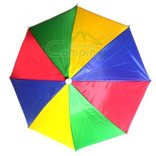 New Rainbow Hat Umbrella Sun Beach Hot Travel Outddor Camping Fishing