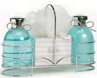 Beauty Spa Bath Chic Green Tea Peppermint Gift Caddy Basket