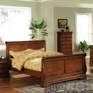 Solid Wood Venice Dark Oak Finish Bed Frame Set