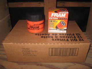 Fram PH3387A Retail Box Oil Filter Case 12
