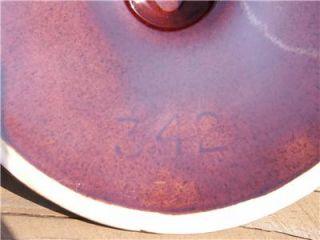 McCoy Brown Drip Stoneware Bean Pot wi Lid Vintage 2 Handled 2 Qt