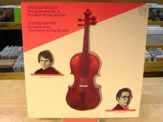 RICHARD WILSON STEVEN MACKEY String Quartets LP Muir Lydian No 3
