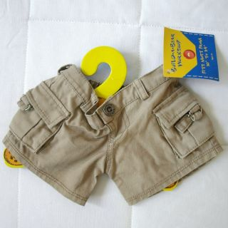 Build A Bear Workshop or Dino Khaki Cargo Style Buttoned Shorts Pants