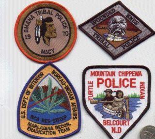 POLICE PATCH MOUNTAIN CHIPPEWA TURTLE INDIAN BELCOURT NORTH DAKOTA