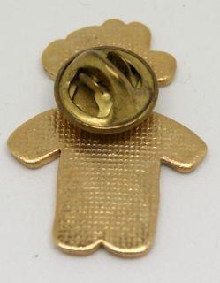 North Dakota Enamel Elks Pin LQQK  Figural Teddy Bear