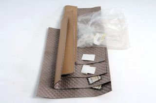 Benson Mills Allegro Faux Leather Placemats Nickel Set of 4 Easy Clean