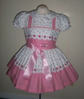 Adult Sissy Baby Beebe Rose SweetHeart Dress Custom Made By Berta Bess