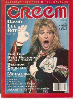 David Lee Roth REM Belinda Carlisle 1986 Creem Magazine