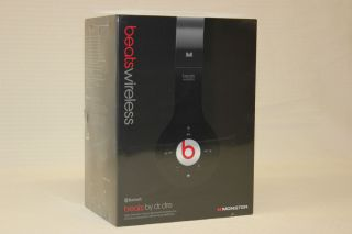 Monster Beats by Dr Dre Black WIRELESS Bluetooth Over the Head