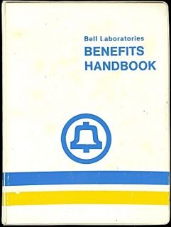 BELL TELEPHONE LABORATORIES BENEFITS HANDBOOK, 1971. AT&T, WESTERN