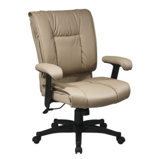 Office Star Deluxe Mid Back Leather Executive Chair