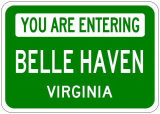 Belle Haven Virginia You Are Entering Aluminum City Sign