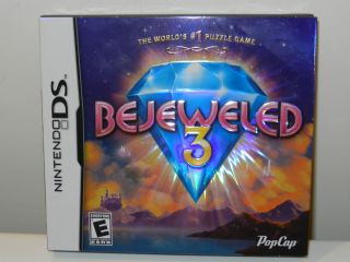 Brand New Bejeweled 3 Video Game for The Nintendo DS DSi