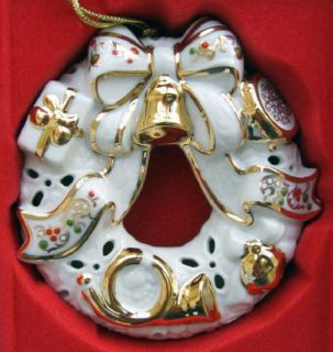 Lenox Christmas Ornament Jewels Bejeweled Wreath