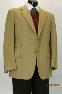 RARE Bernard Weatherill Bespoke Camel Cashmere Sport Coat Blazer 44 S