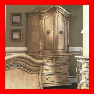 Armoire deck pulaski furniture master bedroom armoires furniture for Master bedroom set with armoire