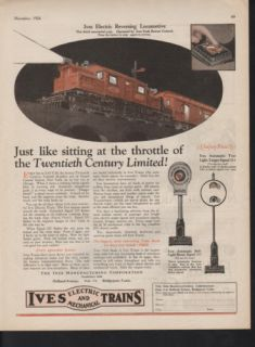 1926 Ives Electric Mechanical Model Train Railroad Bell