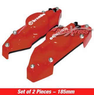 Red Brembo Look Brake Caliper Covers Small Rear 2pcs