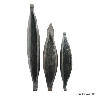 African Hand Percussion Atoke Bell Set of 3 with Strikers