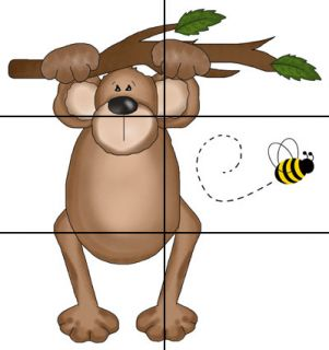 Jungle Monkey Business Bee Nursery Baby Childrens Wall Art Mural