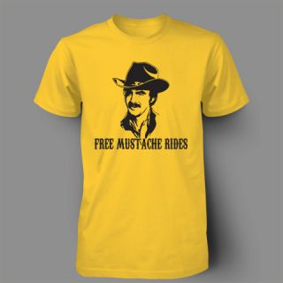 FREE BERT REYNOLDS MUSTACHE RIDES MOVEMBER FUNNY Mens T Shirt