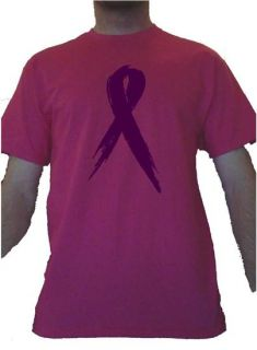 Breast Cancer Awareness T Shirt Ribbon Hot Pink Shirt All Sizes
